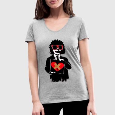 broken heart - Women's Organic V-Neck T-Shirt by Stanley & Stella