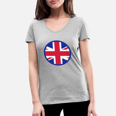 Kingdom Hearts A Heart For The United Kingdom - Women's Organic V-Neck T-Shirt by Stanley & Stella