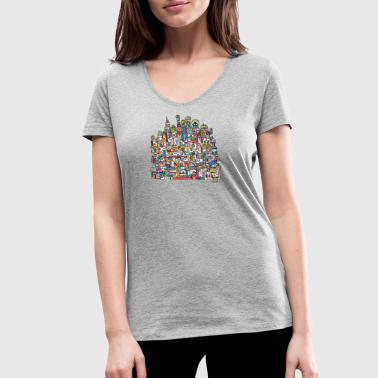 The palace - Women's Organic V-Neck T-Shirt by Stanley & Stella