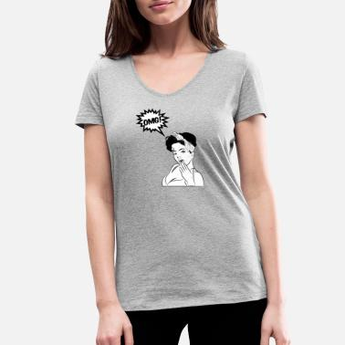 Rockabilly Pin-up / Rockabilly / 50: OMG! - T-shirt bio col V Stanley & Stella Femme