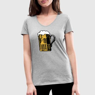 Fucked Oktoberfest Beer is fucking awesome - Women's Organic V-Neck T-Shirt by Stanley & Stella