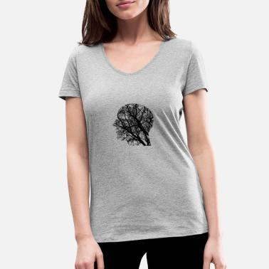 Thought thoughts - Women's Organic V-Neck T-Shirt by Stanley & Stella