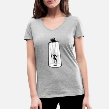 Puppet the puppeteer - Women's Organic V-Neck T-Shirt by Stanley & Stella