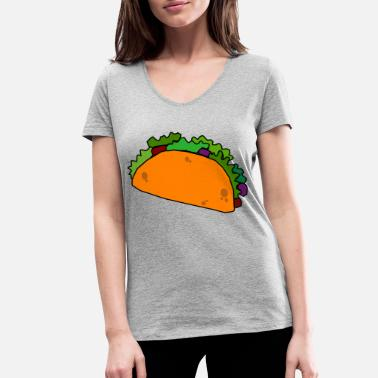 Texmex Taco Burrito Mexican Food / TexMex Lovers - Women's Organic V-Neck T-Shirt by Stanley & Stella