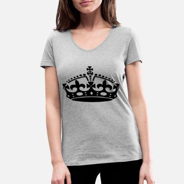 Logo Crown Crown - Women's Organic V-Neck T-Shirt by Stanley & Stella