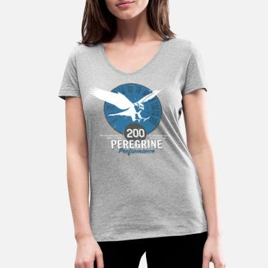 Peregrine Animal Planet Birds Peregrine Facts - Women's Organic V-Neck T-Shirt