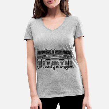 The Famous - Design 5 - Women's Organic V-Neck T-Shirt