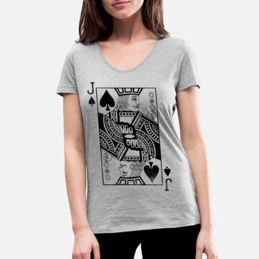 Cards Pik Bube playing card - Women's Organic V-Neck T-Shirt