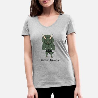 Tricep Triceps ratops posing - Women's Organic V-Neck T-Shirt