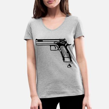 9mm Pistol 9mm CZ - Women's Organic V-Neck T-Shirt