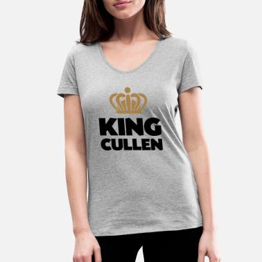 Cullen King cullen name thing crown - Women's Organic V-Neck T-Shirt