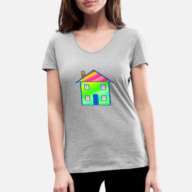 House House - Women's Organic V-Neck T-Shirt