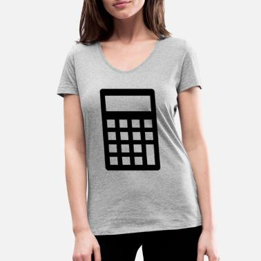 Calculator Calculator - Women's Organic V-Neck T-Shirt