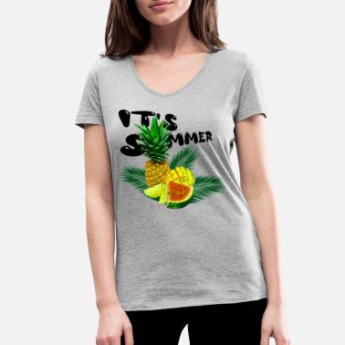 Its Summer Fruits - fruity gift idea - Women's Organic V-Neck T-Shirt