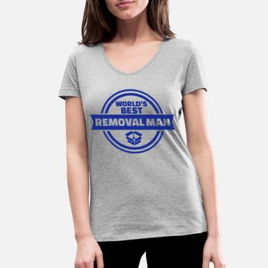 Removal Man Best removal man - Women's Organic V-Neck T-Shirt