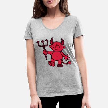 Devil Cute Cute devil - Women's Organic V-Neck T-Shirt