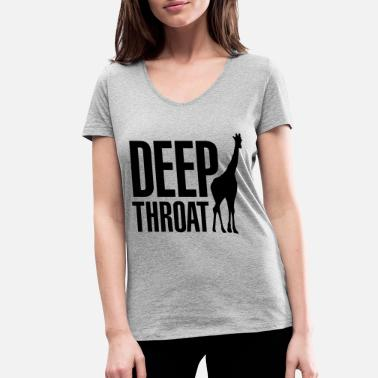 Deep Deep throat - Vrouwen V-hals bio T-shirt