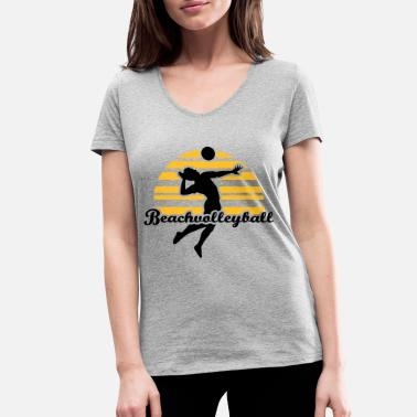 Beachvolleyball Beachvolleyball - Vrouwen V-hals bio T-shirt