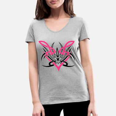 Tribal Two-colored Tribal ornament. - Women's Organic V-Neck T-Shirt