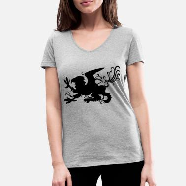 Griffin griffin - Women's Organic V-Neck T-Shirt