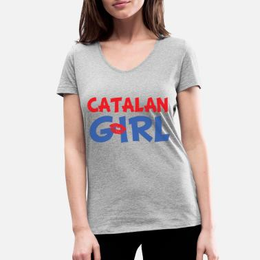 Catalan Catalan Girl - Women's Organic V-Neck T-Shirt