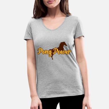 Horseback Riding Pony - Women's Organic V-Neck T-Shirt