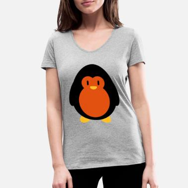 Sweets Sweet penguin - Women's Organic V-Neck T-Shirt
