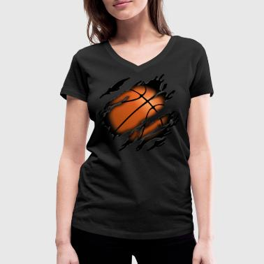 Basketball in me - Women's Organic V-Neck T-Shirt by Stanley & Stella