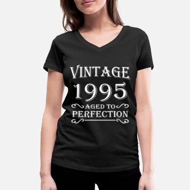 1995 Aged Vintage 1995 - Aged to perfection - Women's Organic V-Neck T-Shirt by Stanley & Stella