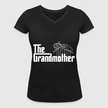 The grandmother - Women's Organic V-Neck T-Shirt by Stanley & Stella