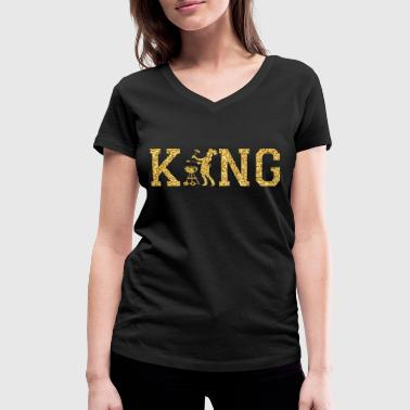 Kings Chef Chef King - Women's Organic V-Neck T-Shirt by Stanley & Stella