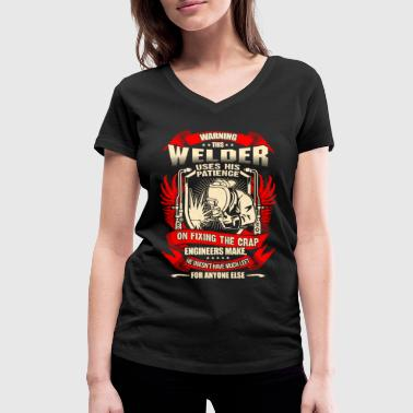 Welder Fixing Crap Engineers Make – EN - Women's Organic V-Neck T-Shirt by Stanley & Stella