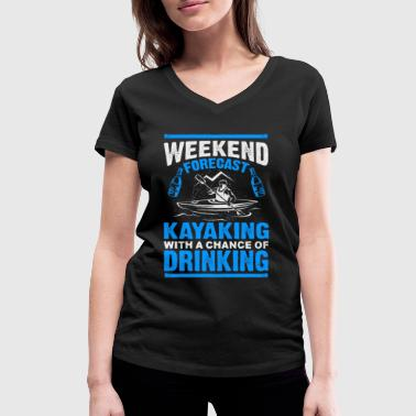 Kayaking and Drinking - EN - Women's Organic V-Neck T-Shirt by Stanley & Stella