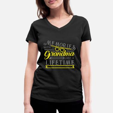 Granny Grandma Grandma granny grandmother gift - Women's Organic V-Neck T-Shirt by Stanley & Stella
