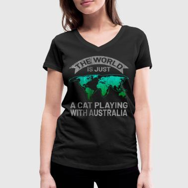 Continent Australia continent - Women's Organic V-Neck T-Shirt by Stanley & Stella