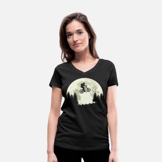 Gift Idea T-Shirts - Bike ride bike ride - Women's Organic V-Neck T-Shirt black