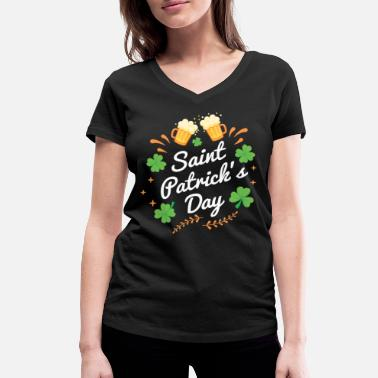 Feast Day St. Patrick's Day feast - Women's Organic V-Neck T-Shirt by Stanley & Stella