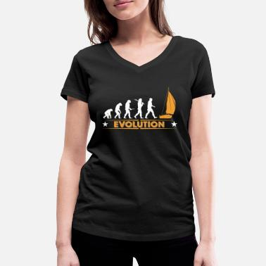 Sailing Evolution Sail evolution - orange/white - Women's Organic V-Neck T-Shirt by Stanley & Stella