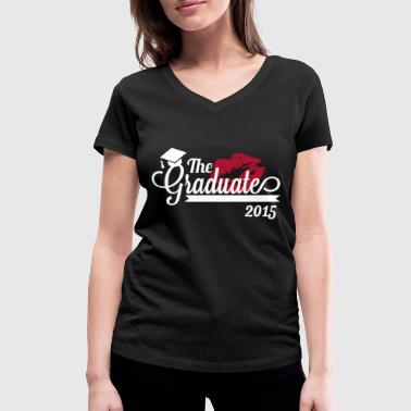 the graduate 2015 - Women's Organic V-Neck T-Shirt by Stanley & Stella