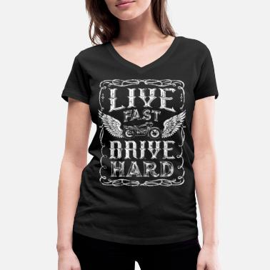 Hard Drive Live fast and drive hard - Women's Organic V-Neck T-Shirt by Stanley & Stella