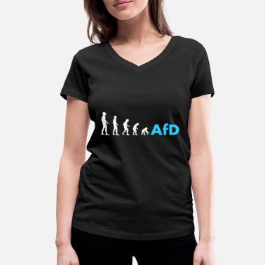 Pegida Evolution to afd gift politics Pegida - Women's Organic V-Neck T-Shirt