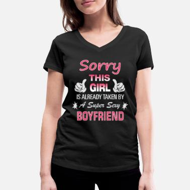 Relationship This Girl is already taken by - Women's Organic V-Neck T-Shirt by Stanley & Stella