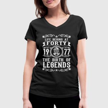1977 - 40 years - Legends - 2017 - Women's Organic V-Neck T-Shirt by Stanley & Stella