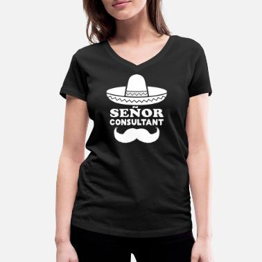 Consultant Señor Consultant (Senior Consultant) for consultants - Women's Organic V-Neck T-Shirt by Stanley & Stella