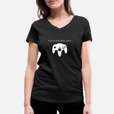 N64 N64 CONTROLLER FOR OLD SCHOOL GAMER! GIFT IDEA - Women's Organic V-Neck T-Shirt by Stanley & Stella