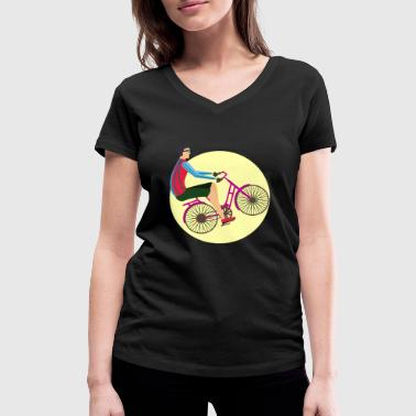 Bicycle - bike riding bicycle - Women's Organic V-Neck T-Shirt by Stanley & Stella