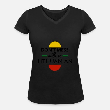 Lithuania Lithuania - Women's Organic V-Neck T-Shirt by Stanley & Stella