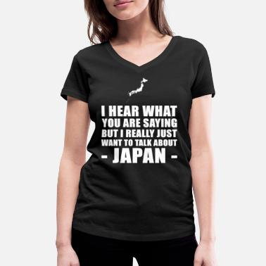 Japan Holiday Funny Japan holiday gift idea - Women's Organic V-Neck T-Shirt by Stanley & Stella