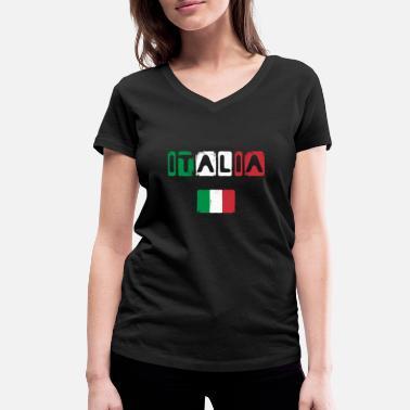 d2c6049a1d Squadra Azzurra Italy Italia football pizza boots Mediterranean -  Women  39 s Organic V