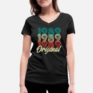 Born 1989 30th Birthday - 1989 Original Vintage Shirt - Women's Organic V-Neck T-Shirt by Stanley & Stella